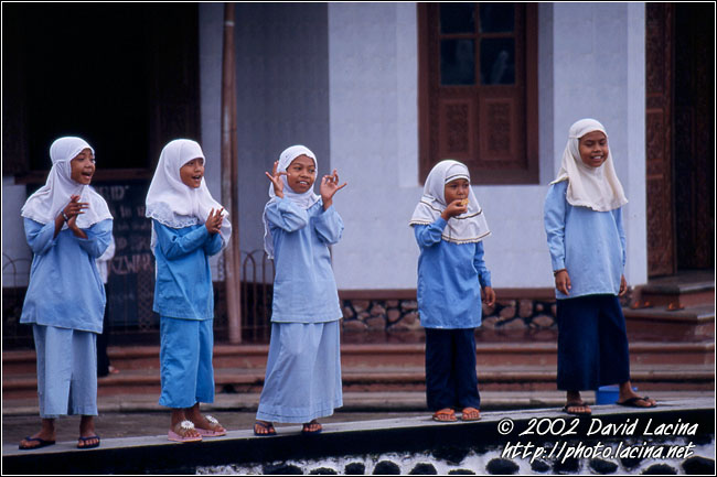 Kids Playing In Mosque - Minangkabau, Indonesia
