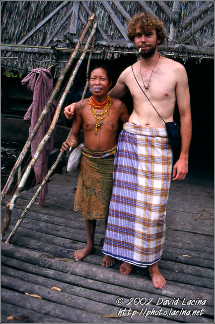 Mentawai Woman And David - Siberut island, Indonesia