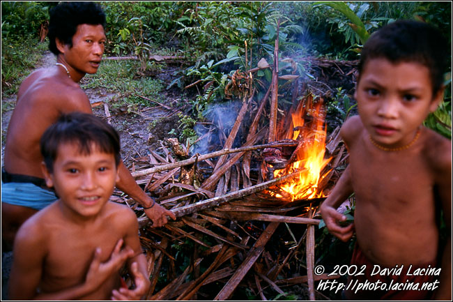 Roasting The Pig - Siberut island, Indonesia