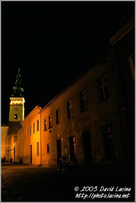 Novy Jicin In Night - Northern Moravia, Czech republic