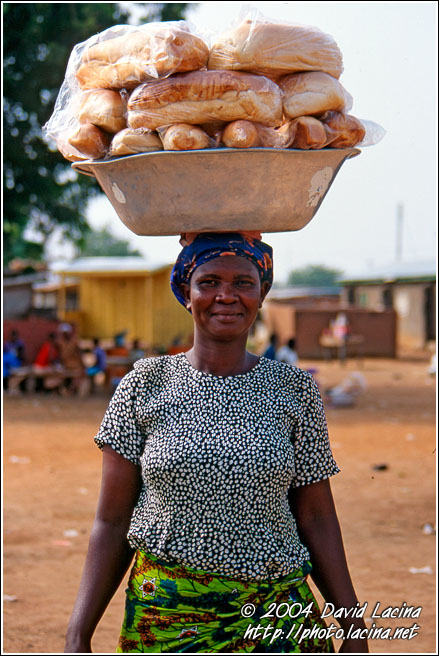 Bread Seller - Local market, Ghana
