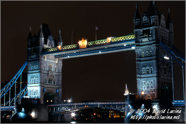 The Tower Bridge - London In The Night, England