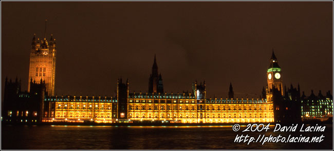 Palace Of Westminster - London In The Night, England