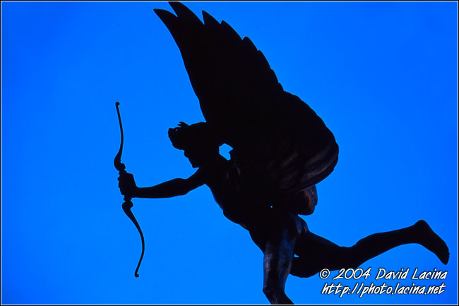 Eros Statue (Piccadilly Circus) - London During Day, England