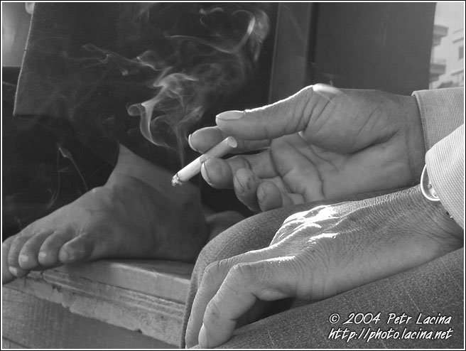 Taking A Smoke - Vietnam in B&W, Vietnam