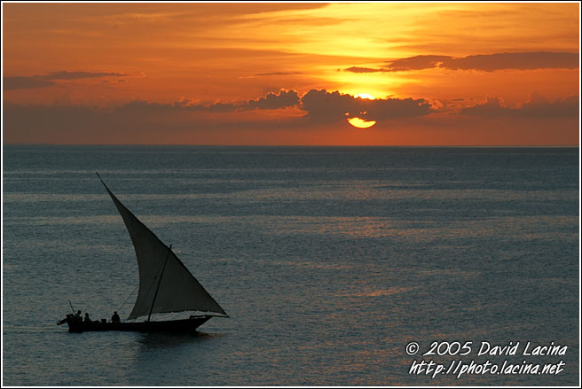 Dhow And Sunset - Stone Town, Tanzania