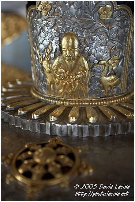 Decorated Casket - Golden Temple, Namdroling Monastery, India
