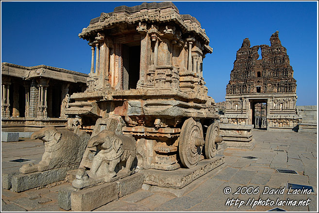 Chariot At Vittala Temple - Hampi Historical, India