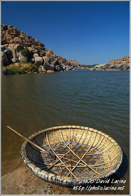 The Coracle - An Ancient Boat - Hampi - Nature, India