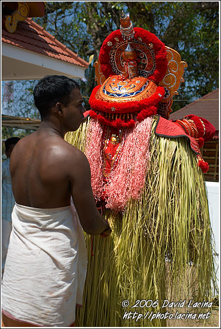 Dressing Up The Dancer - Theyyam Ritual Dance, India