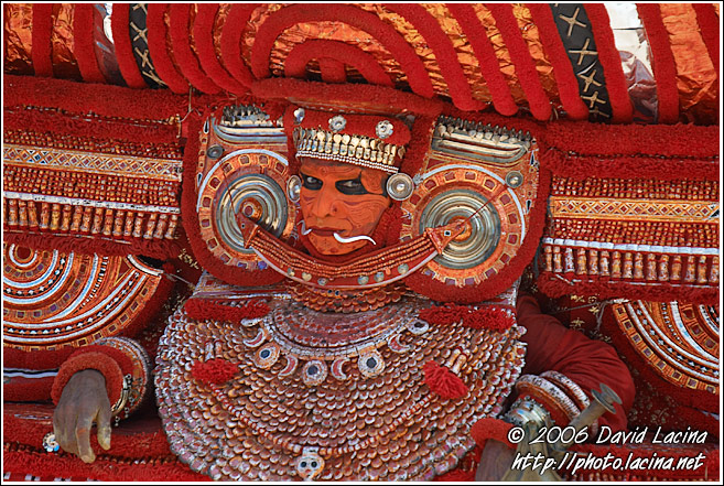 Decoration Of The Dancer - Theyyam Ritual Dance, India