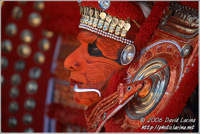 Detail Of Colorful Mask - Theyyam Ritual Dance, India