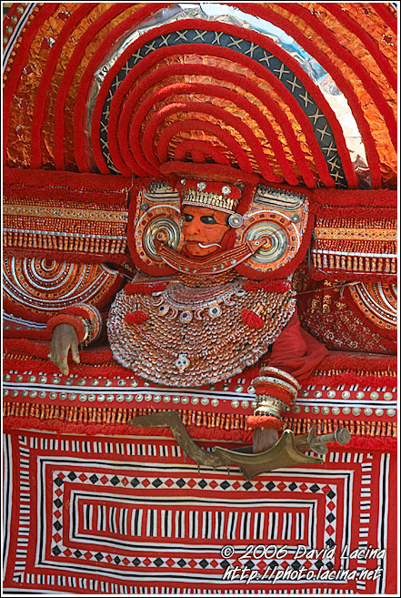 Resting Theyyam Performer - Theyyam Ritual Dance, India