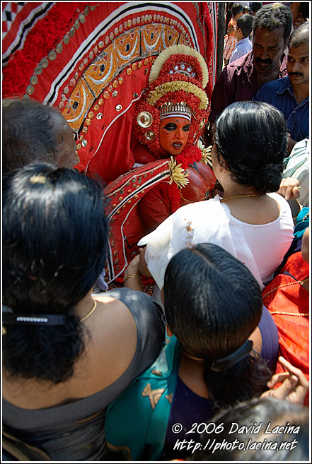 Blessing Given By Kolam - Theyyam Ritual Dance, India
