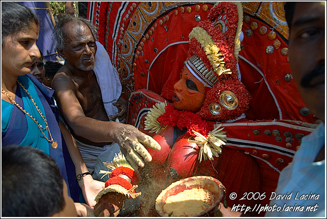 Giving A Blessing - Theyyam Ritual Dance, India