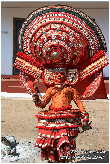 Decorated Theyyam Dancer - Theyyam Ritual Dance, India