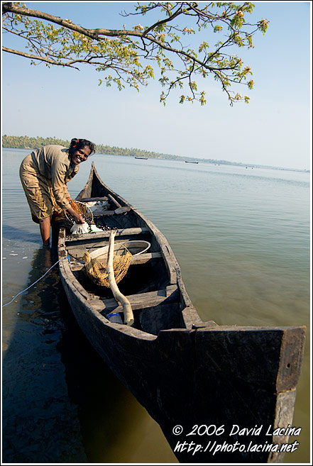 Woman And A Boat - Cochin (Kochi), India