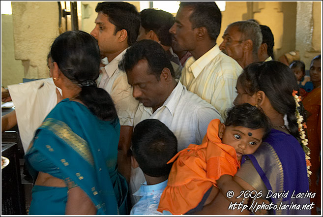 Puja In The Chamundeeswari Temple Temple, Chamundi Hill, Mysore - The People, India