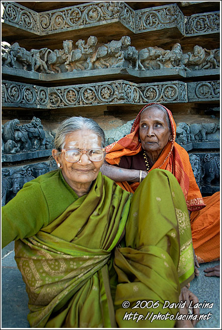 Women By A Temple, Halebid - The People, India