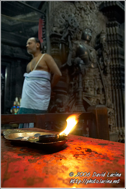 Priest In A Temple, Belur - The People, India