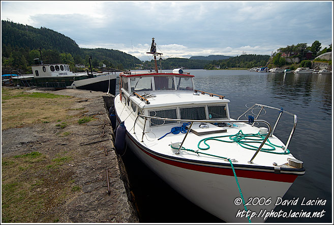 Boats By Telemarkskanalen - The Telemark Canal (Telemarkskanalen), Norway