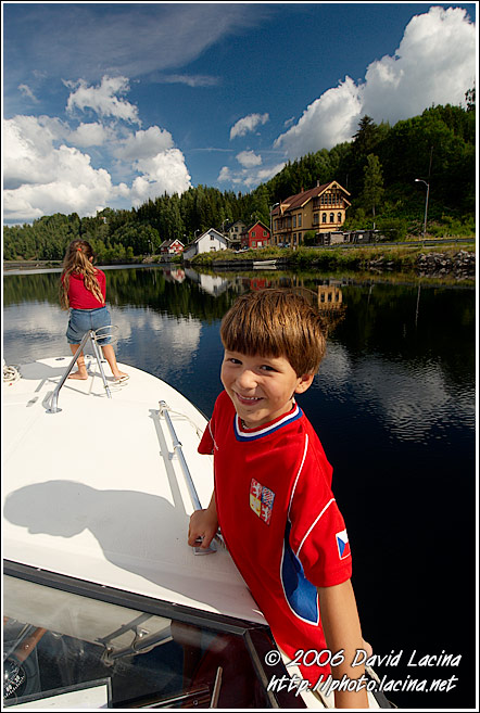 Enjoying The Telemakskanalen - The Telemark Canal (Telemarkskanalen), Norway