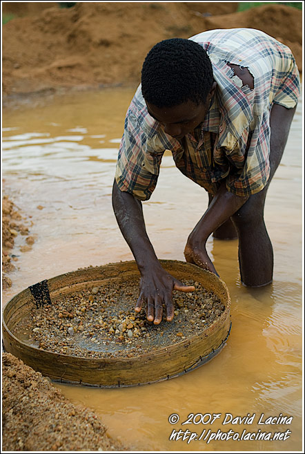 Searching For Diamonds Using Seruca - Diamond Mines In Color, Sierra Leone