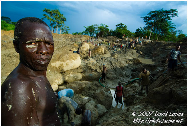 Digger Taking A Rest - Diamond Mines In Color, Sierra Leone