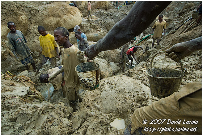 Transporting Soil From The Bottom Of Diamond Mines - Diamond Mines In Color, Sierra Leone