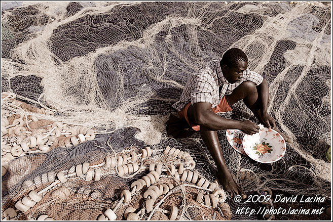 Fisherman Eating Lunch - Casamance, Senegal