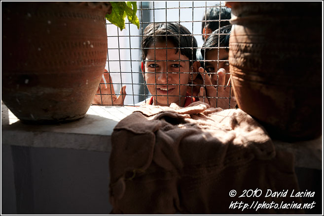 Curious Slum Boy - Jaipur slum dwellers, India