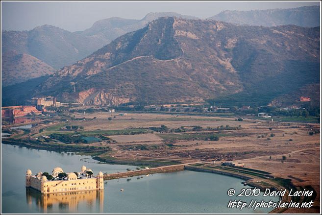 Jal Mahal (Water Palace) At Sunset - Jaipur, India