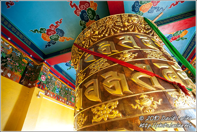 Praying Wheel, Pemayangtse Gompa - Buddhist Sikkim, India