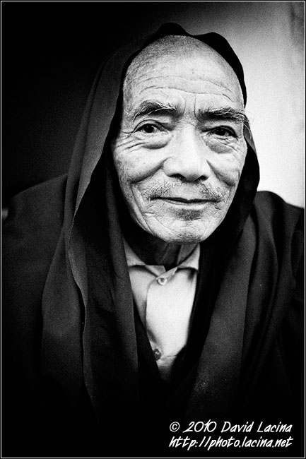 Buddhist Monk - Black And White Snaps, India