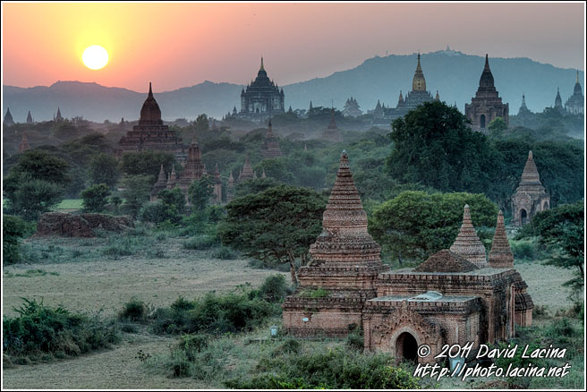 Sunset And Temples In Bagan - Best Of, Myanmar (Burma)