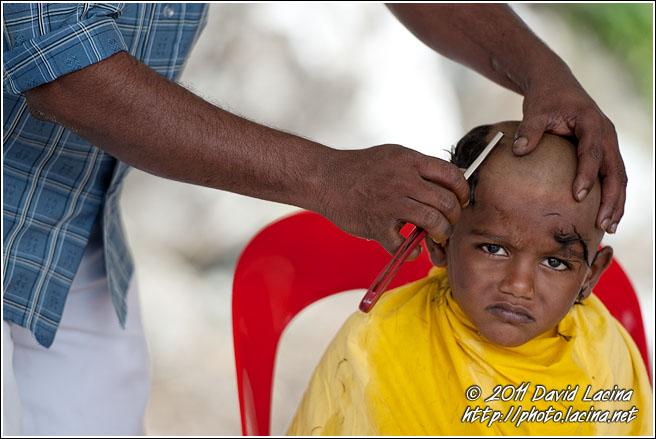 Young Boy Getting Haircut
