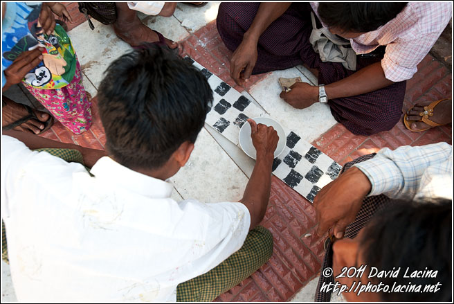 Men Playing Game - Mandalay, Myanmar (Burma)