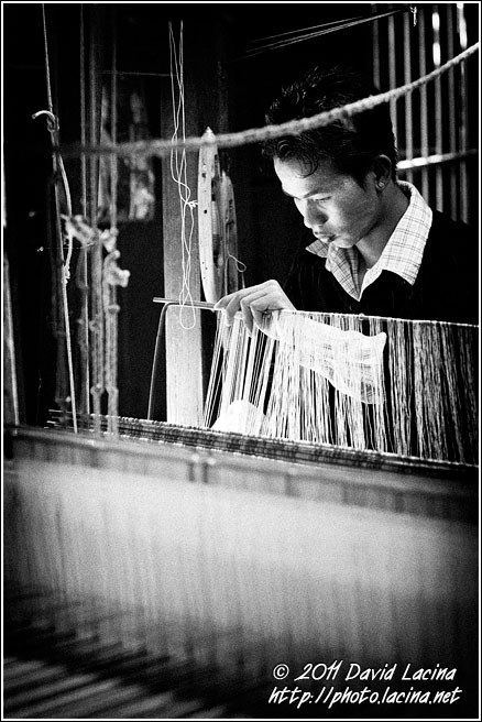 Weaving - Black And White, Myanmar (Burma)