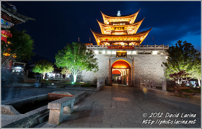 Wuha Gate In The Night - Dali And Erhai Lake, China