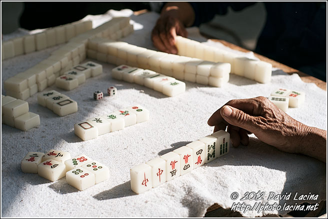 Playing Mahjong - Dali And Erhai Lake, China