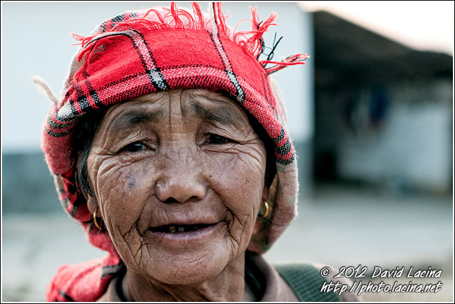 Hani Elderly Woman - Xishuangbanna, China
