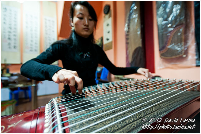 Playing Guzheng - Jianshui, China