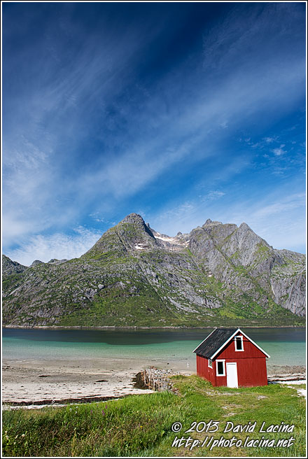 Boathouse And Mountains - Lofoten 2013, Norway