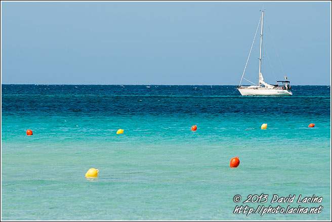 Sail Boat And Buoys - Sicily, Italy