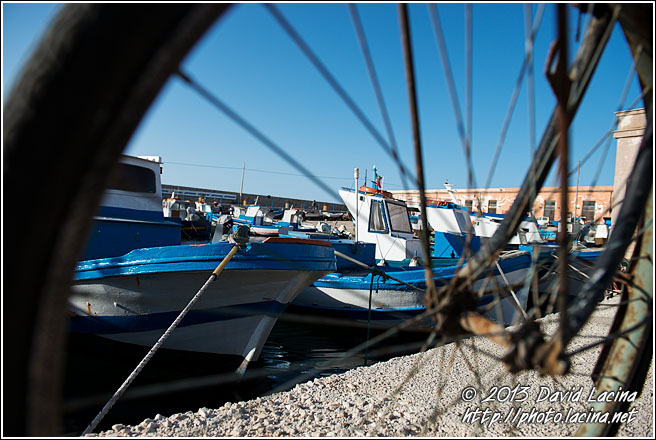 Bicycle And Harbour - Sicily, Italy