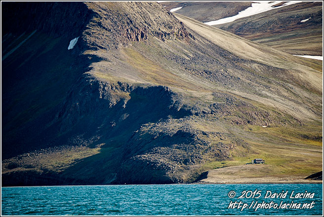 Cabin Under Mountains - Svalbard, Norway