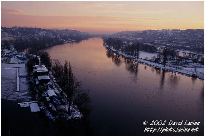 Sunset Over Vltava River - Prague, Czech republic