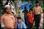 Children In Sianok Valley, Minangkabau, Indonesia