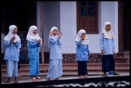 Kids Playing In Mosque, Minangkabau, Indonesia