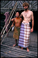 Mentawai Woman And David, Siberut island, Indonesia